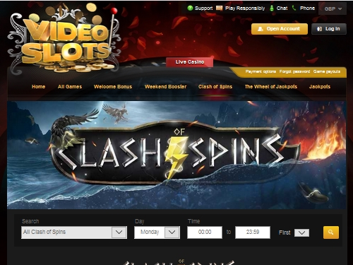 Videoslots Casino Clash Spins