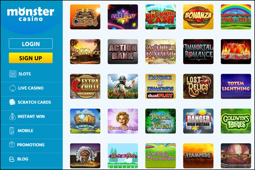 Monster Casino Games