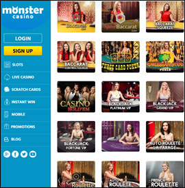 live dealers Monster Casino