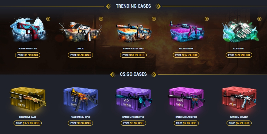 Cases and Skins at Farmskins